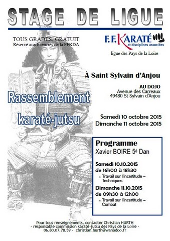 STAGE LIGUE - REGROUPEMENT KARATE JUTSU