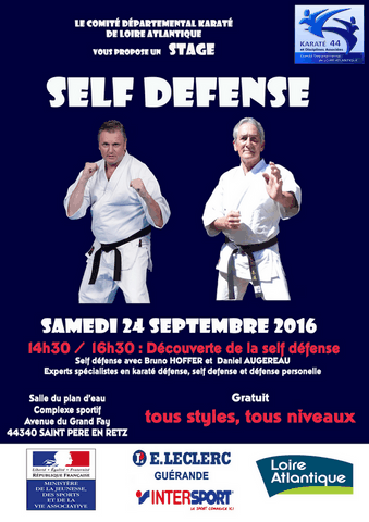Stage De Self Défense Le 24/09/2016